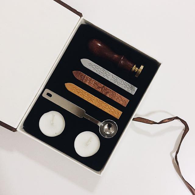 Wooden Wax Seal Stamp Set