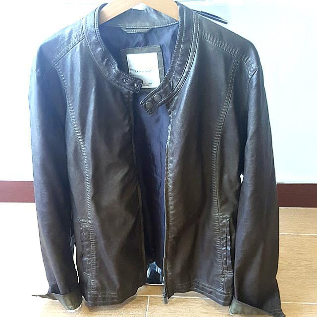 Zara Man Biker Jacket - Size USA: XL