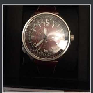 Citizen Postmaster Nighthawk Euro Havana Men's Pilot Leather Watch