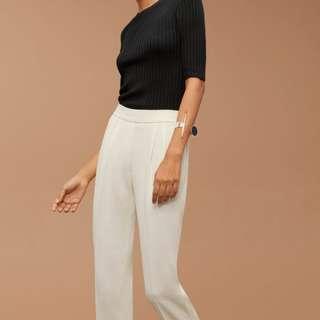 *Aritzia* Babaton Cohan pants (summer nylon) light beige