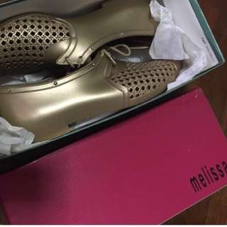 Melissa Gold Oxford Shoes