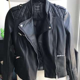 Zara Trafaluc faux leather jacket