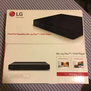 LG BP250 blu-ray/DVD player