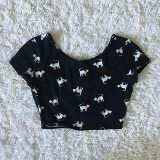 FOREVER 21 cat crop top