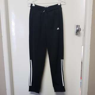 Girls black Adidas Trackpants with cuff Size 14