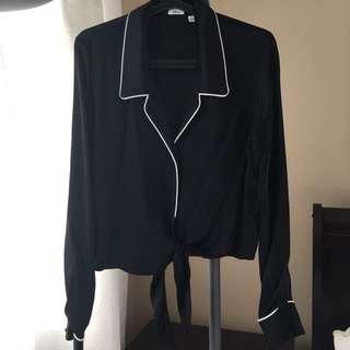 Aritzia Wilfred Peaufiner silk blouse