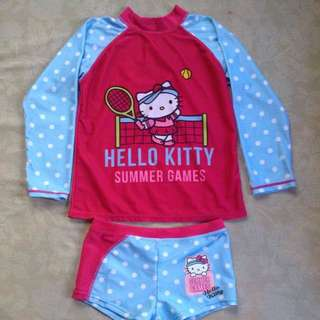 Hello Kitty Rash guard And Bottom