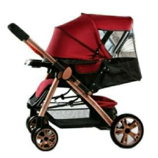 Angel Baby Two-way Four-wheel Folding Aluminum Alloy Baby Stroller