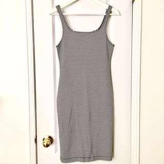 Zara Stripped Bodycon Dress size M