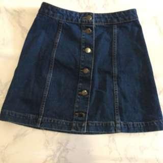 Top shop A line denim skirt