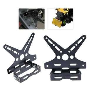 Plate Holder adjustable motorcycle tail light bracket