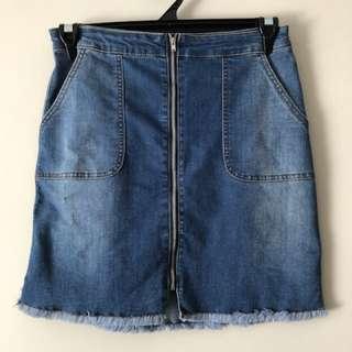 Paper Scissors denim skirt