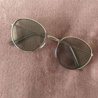 Blue grey tinted sunglasses
