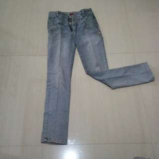 Grey high waist jeans (unbranded)