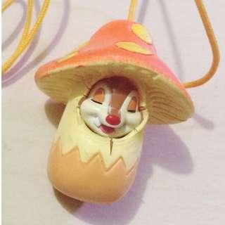 [絕版] [二手] [包平郵]迪士尼 大鼻 鋼牙 chip n dale 扭蛋食玩 手機 袋 吊飾 蘑菇 mushoon