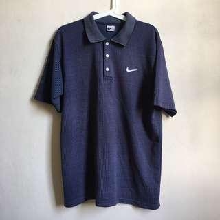 Vintage Nike Pinstripe Polo