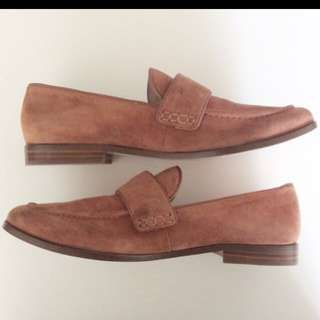Pour La Victoire Brown Suede Loafers Size 8 / 38