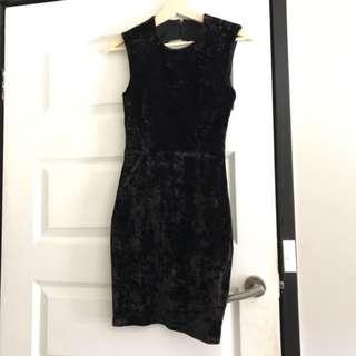 Lovers and Haters Velvet Dress