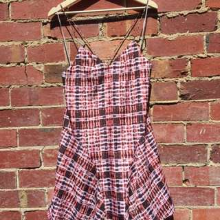 FINDERS KEEPERS TARTAN DRESS