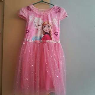 Frozen dress with glittered cape