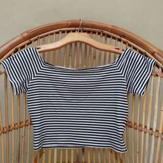 H&M stripes crop top