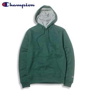 (全新)Champion S0889 刺繡 帽T 森林綠 尺寸L