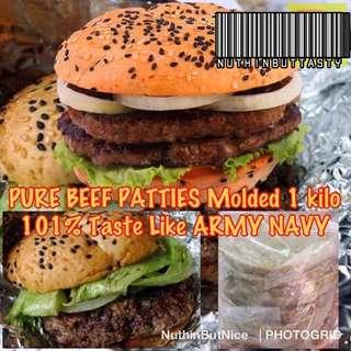 💯 PURE BEEF BURGER PATTIES (Army Navy)