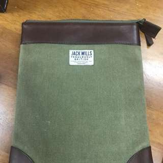 Jack Wills pouch bag 文件袋 A5 size