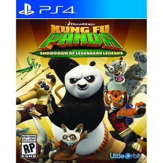 PS4 Game Kung Fu Panda: Showdown of Legendary Legends