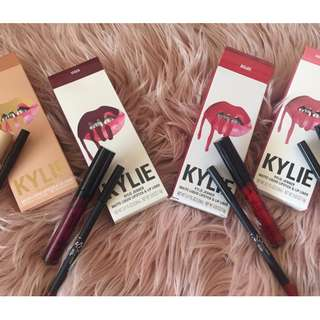 KYLIE JENNER LIP KITS WITH LIP LINER.