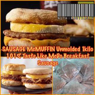 💯 PURE Beef Sausage McMuffin Style Patties