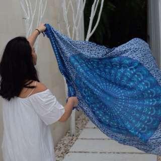BALI TAPESTRY dark blue sarong / scarf