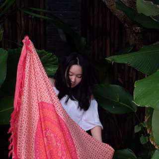 BALI TAPESTRY cherry red sarong/ scarf