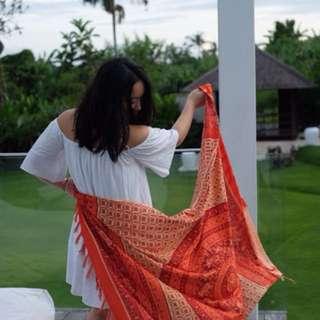 BALI TAPESTRY pink orange Sarong / scarf