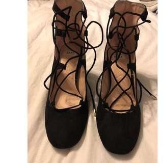 Zara Lace Up Heels... Size 6