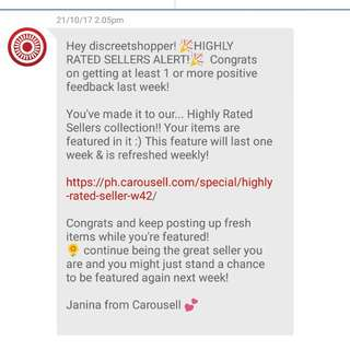 Thank you Carousell! Thank you Shoppers!!!