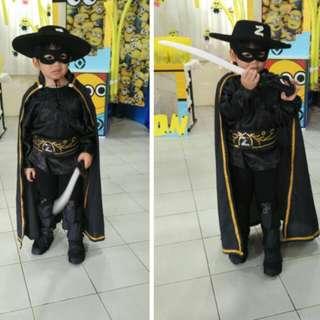 Zorro complete costume