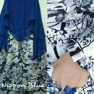 Gamis Nippon Blue