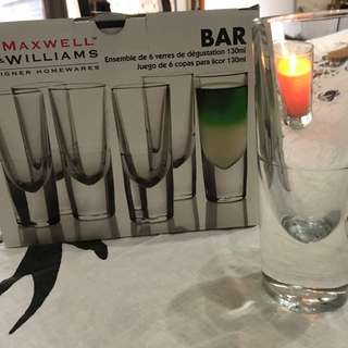 130ml Bar glassware x 6