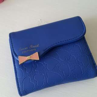 Blue small wallet