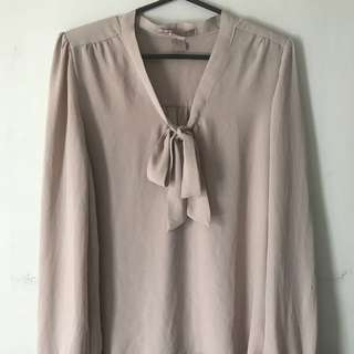 Forever 21 Chiffon Smart Casual Top- Small