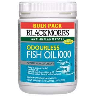 BLACKMORES 深海魚油Fish Oil 1000mg 500粒裝 $670/2樽