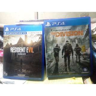 Resident Evil 7 and The Division