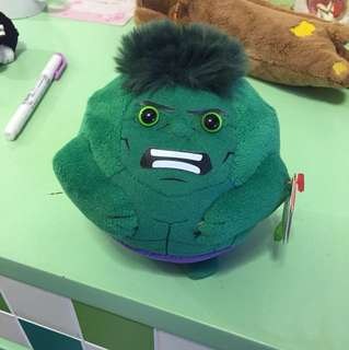 Ty plush toy hulk marvel avengers beanie ballz 復仇者 毛公仔