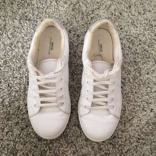 MNG white sneakers