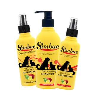Long Hair Shampoo, Conditioner & Detangler Pack