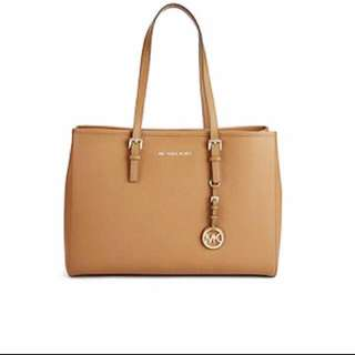 Michael Kors Jet Set Large Leather Tote Shoulder Bag