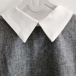 Grey-White Shirt Kerah