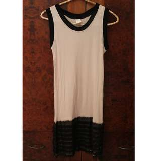 Short dress pink&black (X).S.M.L
