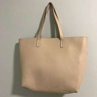 Forever 21 Nude Shopper Purse with Inside pocket
